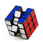 Оригинал 100%. Кубик Рубика 3 на 3 Qiyi Cube в черном пластике, фото 8