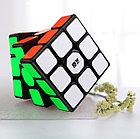 Оригинал 100%. Кубик Рубика 3 на 3 Qiyi Cube в черном пластике, фото 9