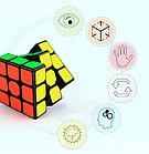 Оригинал 100%. Кубик Рубика 3 на 3 Qiyi Cube в черном пластике, фото 4