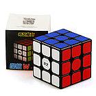 Оригинал 100%. Кубик Рубика 3 на 3 Qiyi Cube в черном пластике, фото 3