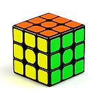 Оригинал 100%. Кубик Рубика 3 на 3 Qiyi Cube в черном пластике, фото 10