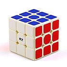 Оригинальный кубик Рубика 3 на 3 Qiyi Cube в белом пластике, фото 3