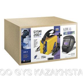Сварочный аппарат инверторный типа ММА Gysmi 200P + LCD TECHNO 11, фото 2