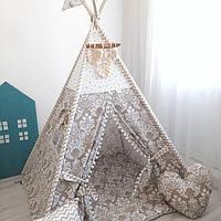 Детская палатка вигвам 22 бежевый