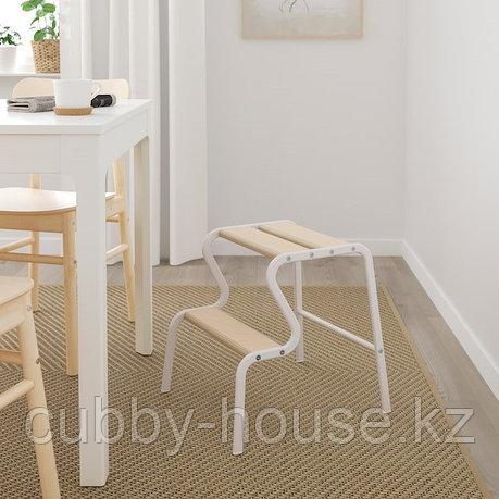 GRUBBAN ГРЮББАН Табурет-лестница, белый/береза, фото 2