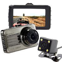 Автомобильный видеорегистратор T666G Plus с камерой заднего вида