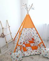 Детская палатка вигвам 27 оранжевый, фото 1