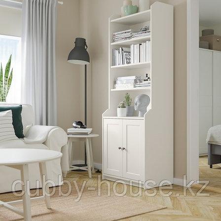 HAUGA ХАУГА Шкаф высокий,2дверный, серый70x199 см, фото 2