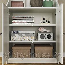 HAUGA ХАУГА Шкаф высокий,2дверный, серый70x199 см, фото 3