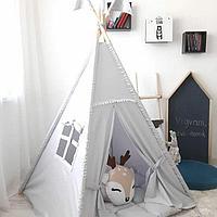 Детская палатка вигвам 22 серый, фото 1