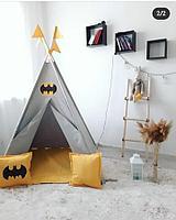 Детская палатка вигвам 22 бэтмен/серый, фото 1