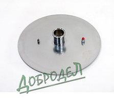 """Крышка к котлу 37 литров (d-360) толщиной 3 мм в комплекте клапан давления, нипель М8, кламп 2""""."""