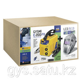 Сварочный аппарат инверторный типа ММА Набор E200 FV + LCD HERMES 9/13 G, фото 2
