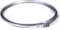 Обруч обжимной стальной на бак 37 л, толщина 1 мм, регулируемый замок, диаметр 385  мм.