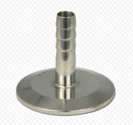 """Переходник с клампа 1,5"""" (k50,5) на трубку 10 мм, высота 40 мм."""