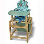 Стул-стол для кормления СЕНС-М СТД 07 пластиковая столешница Бирюзовый