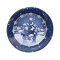 Тарелка d 230мм, дизайн, Хлопья снега, бумага, 6 шт