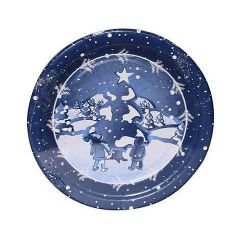 Тарелка d 230мм, дизайн, Хлопья снега, бумага, 6 шт, фото 2