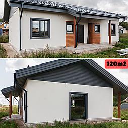 Каркасно модульный дом 120m2 из ЛСТК 10х13m