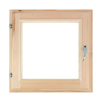 Окно, 50×50см, двойное стекло, из липы