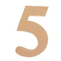 Основа для творчества и декорирования из папье-маше «Цифра пять» 11 × 7 × 1,2 см
