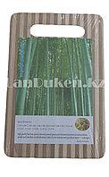Бамбуковая разделочная доска 23,5 *15,5 см, фото 1