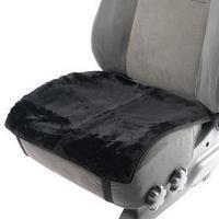 Накидка на переднее сиденье, натуральная шерсть, короткий ворс, черный