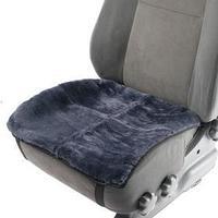 Накидка на переднее сиденье, натуральная шерсть, короткий ворс, серый
