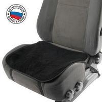 Накидка на переднее сиденье, искусственный мех, размер 48 х 48 см, черный