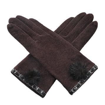 Перчатки женские, размер one size, цвет коричневый