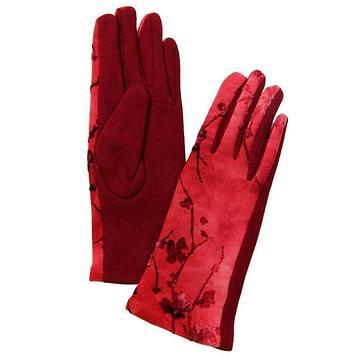 Перчатки женские, размер 7-8,5, цвет бордовый-красный