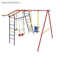 Детский спортивный комплекс уличный «Игромания базовый» КМС-400, 2700 × 2300 × 2200 мм