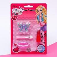 Набор косметики для девочки блеск для губ 1 цв 1,8 гр  аппликатор  помада 1.6 гр (комплект из 2 шт.)