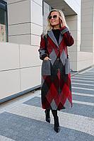 Женское осеннее драповое большого размера пальто Azzara 3072Б 48р.