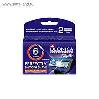 Сменные кассеты Deonica for men 6 лезвий, 4 шт