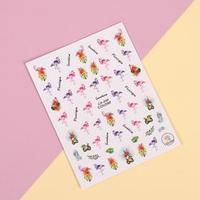 Наклейки для ногтей 'Фламинго'