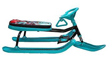 Снегокат Nika - Тимка Спорт 2 (ТС2) Цвет рамы: Черный (Nika kids Sportbike); Цвет пласт.: Бирюзовый