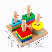 Деревянный логический сортер - Занимательные фигурки, фото 3