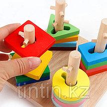 Деревянный логический сортер - Занимательные фигурки, фото 2