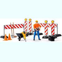 Bruder Набор знаков дорожных работ с фигуркой рабочего (Брудер 62-000)