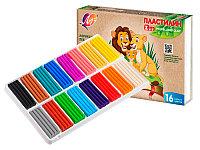 Пластилин Луч 16 цветов ZOO Мини 240г картонная упаковка