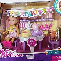 Кукла Kiki Love на вечеринке с питомцем