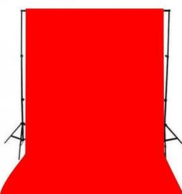 Красный фон 3х3 м Студийный, тканевый