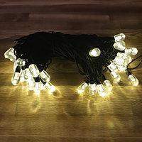 """Уличная водонепроницаемая гирлянда """"Нить"""" - 10 метров, 40 больших лампочек, теплый свет"""