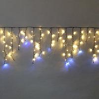 """Уличная водонепроницаемая гирлянда """"Бахрома"""" - 3х0,8 метра, 115 лампочек, белый цвет"""