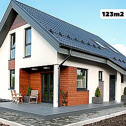 Каркасно модульный дом 123m2 из ЛСТК 10х13m