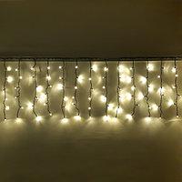 """Уличная led гирлянда """"Дождь"""" - 3х0,8 метра, 120 лампочек, тёплый белый цвет свечения"""