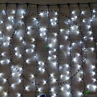 """Уличная гирлянда """"Дождь"""" - 3х3 метра, 600 лампочек, белый цвет свечения, водонепроницаемая, морозостойкая"""