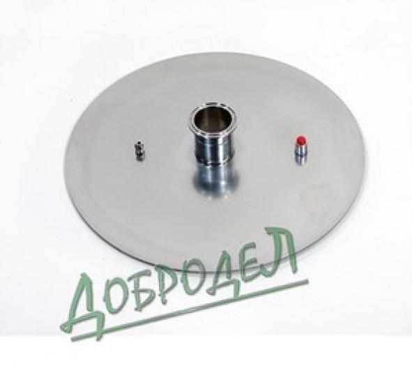 """Диск стальной толщина 2 мм для котла 37 л, в комплекте клапан давления, нипель М8, кламп 2""""."""