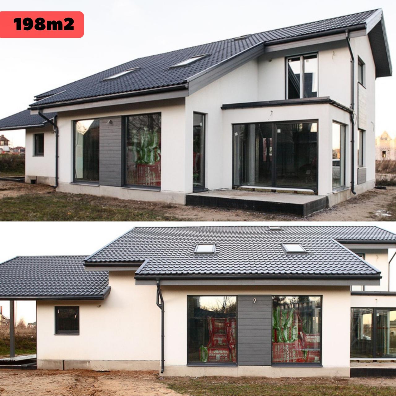 Каркасно модульный дом 198m2 из ЛСТК 17х13m